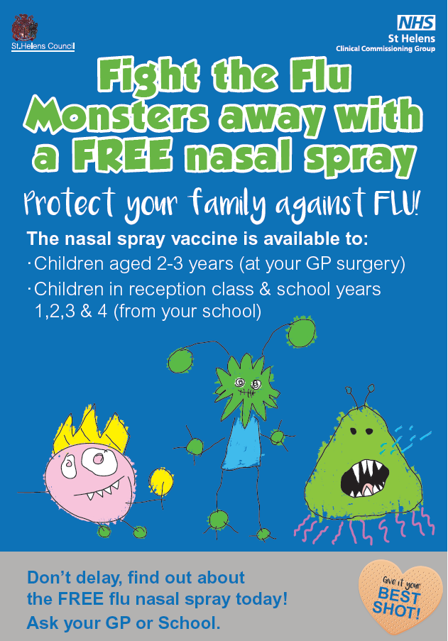 Children In Reception And School Years 1 2 3 4 Will Be Offered The Flu Vaccination At